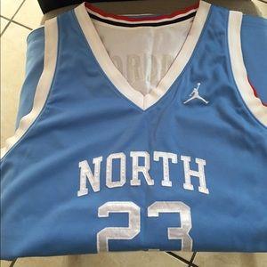 6022c39465f0 Jordan Shirts - Michael Jordan UNC  USA Reversible Jersey